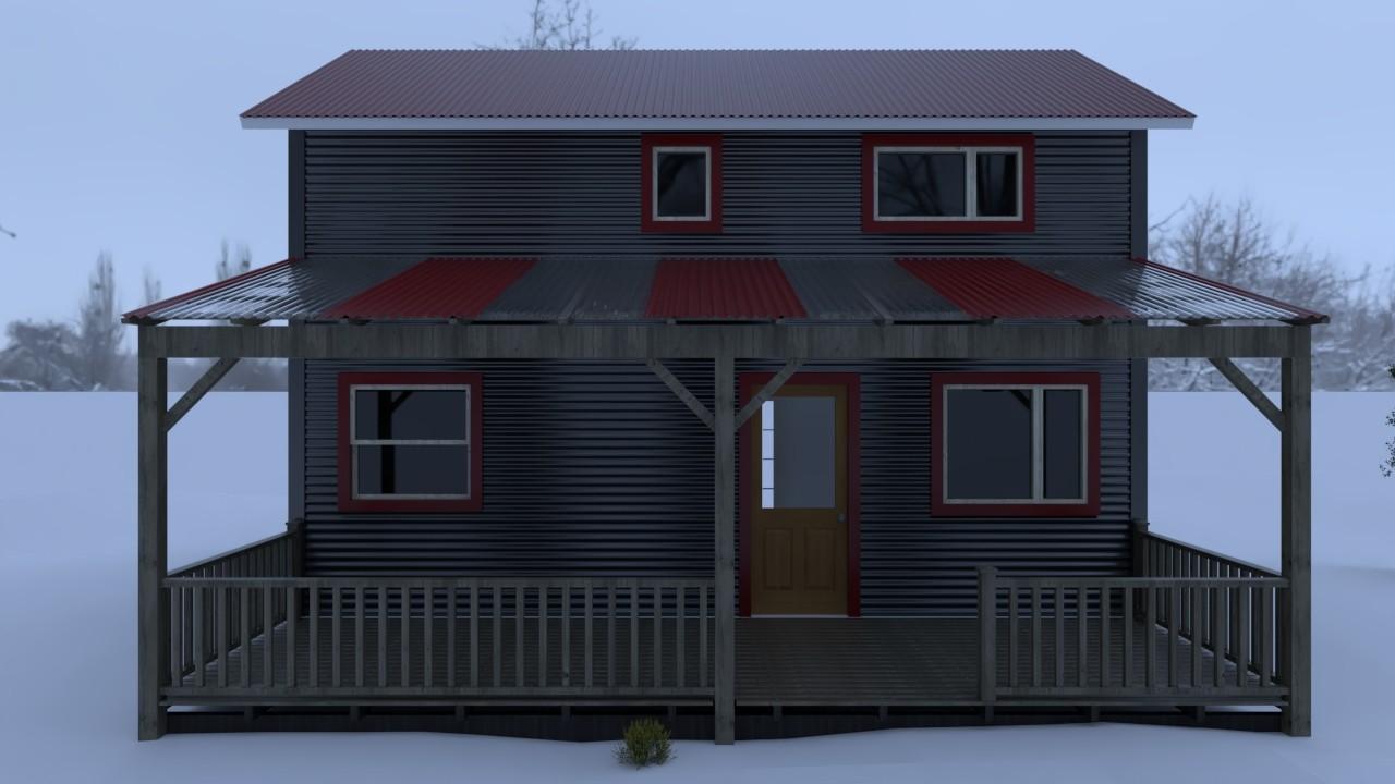 C150- OPORTUNIDAD- Casa en construcción en Meliquina 71m2 en lote de 1200 m2